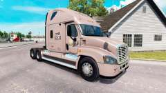Скин KLLM Transport на Freightliner Cascadia для American Truck Simulator
