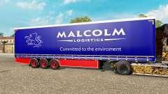 Шторный полуприцеп Krone Malcolm для Euro Truck Simulator 2