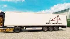 Скин ABC-Logistic на полуприцеп-рефрижератор для Euro Truck Simulator 2