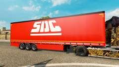 Шторный полуприцеп Krone SDC для Euro Truck Simulator 2