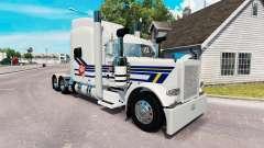 Скин Burton Trucking на тягач Peterbilt 389 для American Truck Simulator