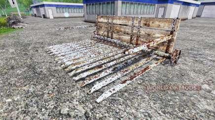 Толкающие грабли для Farming Simulator 2015