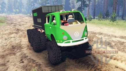 Volkswagen Samba 8x8 для Spin Tires