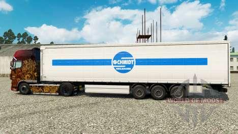 Скин Schmidt Heilbronn на полуприцепы для Euro Truck Simulator 2
