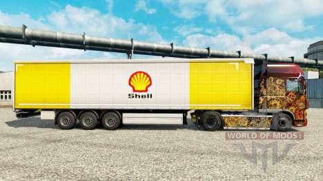 Скин Royal Dutch Shell на полуприцепы для Euro Truck Simulator 2