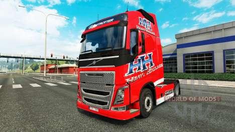 Скин Heavy Haulage на тягач Volvo для Euro Truck Simulator 2