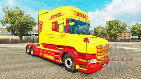 Скин DHL на тягач Scania T для Euro Truck Simulator 2