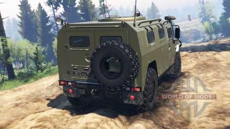 ГАЗ-2330 Тигр v2.0 для Spin Tires