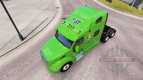 Скин SGT на тягач Peterbilt 387 для American Truck Simulator
