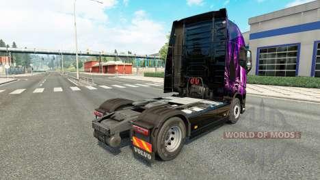 Скин Purple Tiger на тягач Volvo для Euro Truck Simulator 2