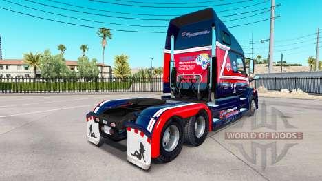 Скин Cargo Transporters на тягач Volvo VNL 670 для American Truck Simulator