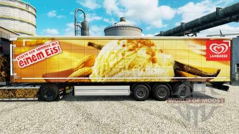 Скин Langnese на полуприцепы для Euro Truck Simulator 2