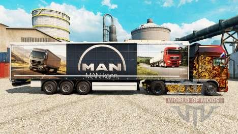 Скин MAN на полуприцепы для Euro Truck Simulator 2