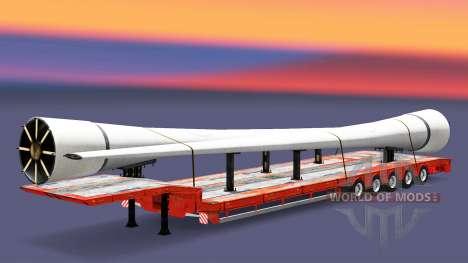 Низкорамный трал с грузами v3.2 для Euro Truck Simulator 2