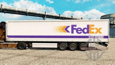 Скин FedEx Express на полуприцепы для Euro Truck Simulator 2