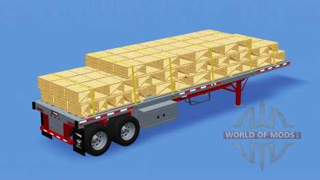 Двухосный полуприцеп-площадка для American Truck Simulator