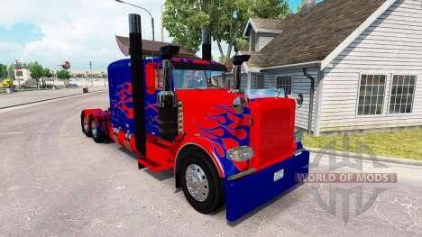Скин Optimus Prime на тягач Peterbilt 389 для American Truck Simulator
