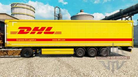 Скин DHL на полуприцепы для Euro Truck Simulator 2