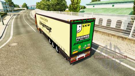 Шторный полуприцеп Vogelzang Angermayr для Euro Truck Simulator 2