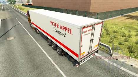 Скин Peter Appel на полуприцепы для Euro Truck Simulator 2