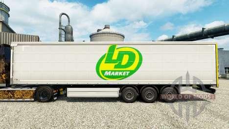 Скин LD Market на полуприцепы для Euro Truck Simulator 2
