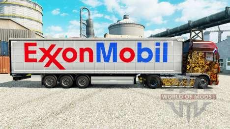 Скин Exxon Mobil на полуприцепы для Euro Truck Simulator 2
