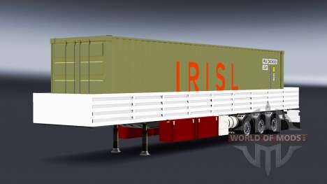 Бортовой полуприцеп с грузом контейнера для American Truck Simulator