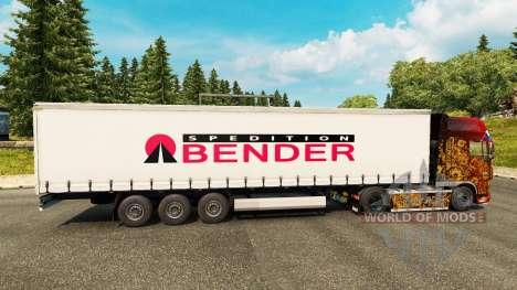 Скин Bender Spedition на полуприцепы для Euro Truck Simulator 2