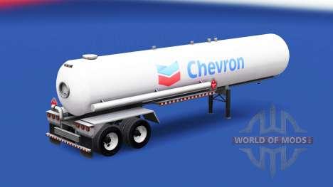 Скин Chevron на газовый полуприцеп-цистерна для American Truck Simulator