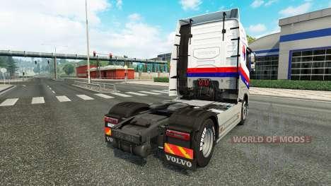 Скин Malasian Airlines на тягач Volvo для Euro Truck Simulator 2