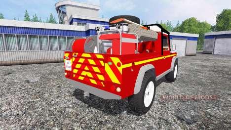 Land Rover Defender 110 [feuerwehr] для Farming Simulator 2015