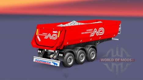 Полуприцеп-самосвал Schmitz Norbert для Euro Truck Simulator 2