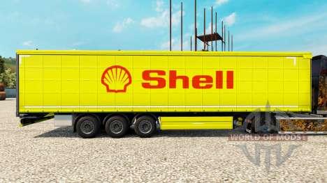Скин Shell на полуприцепы для Euro Truck Simulator 2