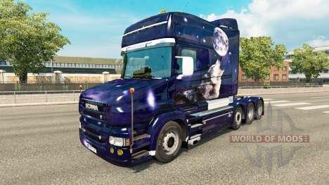 Скин Wolf на тягач Scania T для Euro Truck Simulator 2