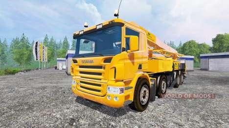 Scania P420 [concrete pump] для Farming Simulator 2015