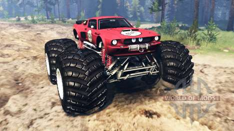 Ford Mustang Shelby GT500 [monster truck] для Spin Tires
