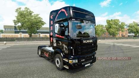 Скин Crasy Trans Logistic v2.0 на тягач Scania для Euro Truck Simulator 2