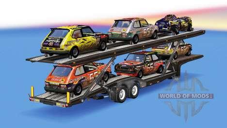 Автовоз с автомобилями из FlatOut для American Truck Simulator