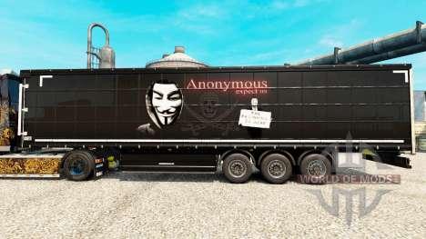 Скин Anonymous на полуприцепы для Euro Truck Simulator 2
