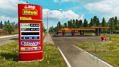 Новые окрасы для АЗС v0.4 для Euro Truck Simulator 2
