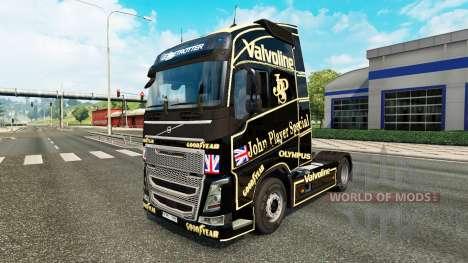 Скин John Player Special на тягач Volvo для Euro Truck Simulator 2
