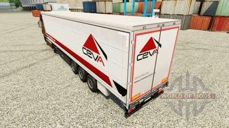 Скин Ceva Logistics на полуприцепы для Euro Truck Simulator 2