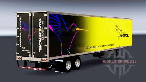 Цельнометаллический полуприцеп Vanderoel для American Truck Simulator