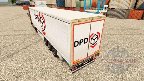 Скин Dynamic Parcel Distribution на полуприцепы для Euro Truck Simulator 2