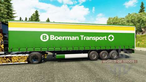 Скин Boerman Transport на полуприцепы для Euro Truck Simulator 2