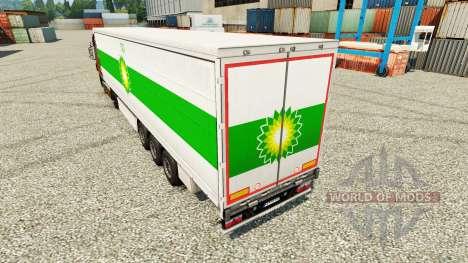 Скин BP на полуприцепы для Euro Truck Simulator 2