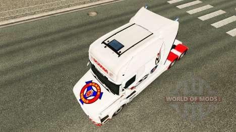 Скин White на тягач Scania T для Euro Truck Simulator 2