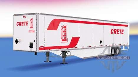 Изометрический полуприцеп Wabash v2.0 для American Truck Simulator