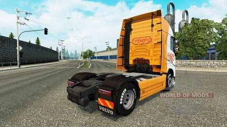Скин TNT на тягач Volvo для Euro Truck Simulator 2