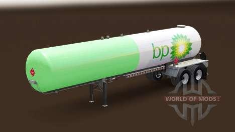 Скин BP на газовый полуприцеп-цистерна для American Truck Simulator